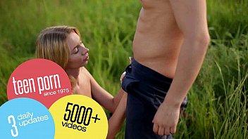 skinny teen fucks her boyfriend&#039_s giant.