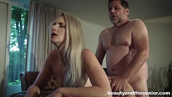 blonde katy sky seduces old man philippe soine.