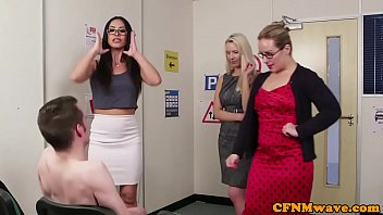 cfnm milf teachers tugging cock together