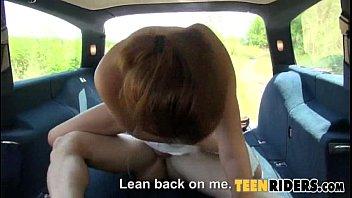 dangerous tantalizing teen back seat fucking