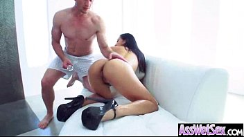 big butt girl (vicki chase) get olied and.