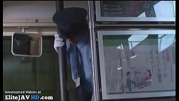 japanese big tits milf forgot the bus ticket.