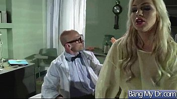 hard sex tape with dirty doctor and slut.
