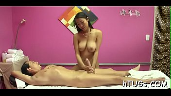 asian chick rides fat cock