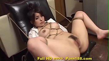 porn188.com - subtitled bizarre japanese bdsm anal play.