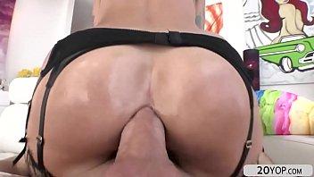 pretty blonde sammie six recieves a hard anal pounding