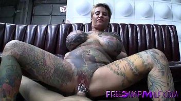 tattooed mature fucked on pool table