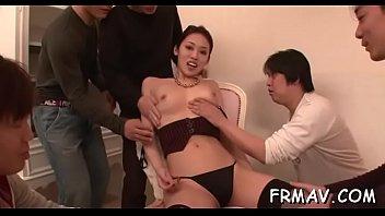 sexy japanese playgirl rubs her twat.