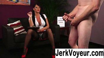 girl masterbating watching guy jerk