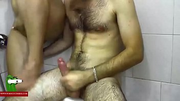 hard on the shower. milf caught with a.