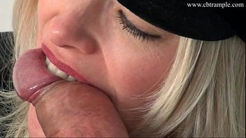 hot blonde police girl bites cum.