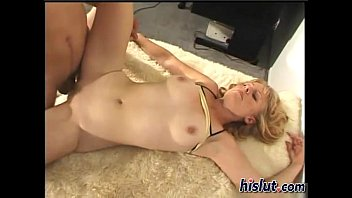 slutty blonde gets her boobs covered.
