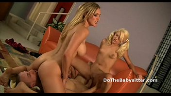 mom bounces on big cock then lets her.