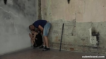 skinny babe sarah kay struggling while tied and.