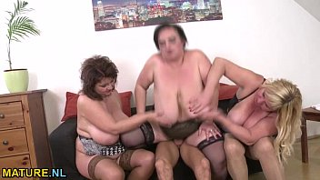 three amateur mature ladies sharing a.