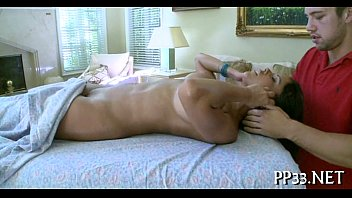 oil massage with moist oral-sex