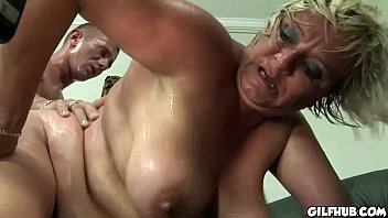 fat gilf gets her hairy pussy fucked by.