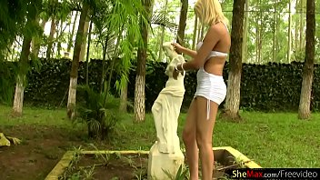 beautiful blond ts pops out massive breasts from.