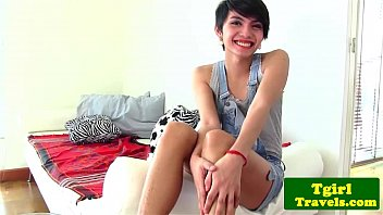 young ladyboy sofie gives hot solo.