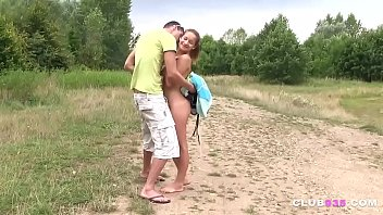 busty brunette fucked by the river