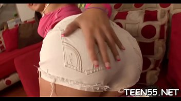 lustful teen babe gets a big cock to.