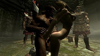 skyrim - imperial soldiers gangbang a sexy nord.