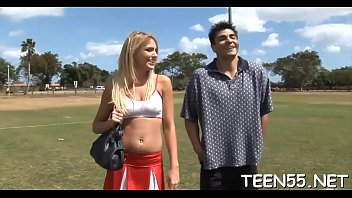 teen student bonks with trainer