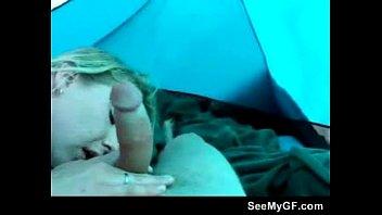 blowjob in camping tent