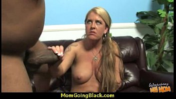 cougar with big tits seduces young black guy 20