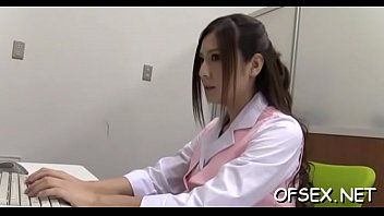 horny colleagues have hawt office sex in front.