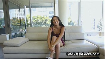 banging perky oiled ebony teen at.