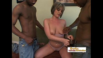 white chick double penetrated nicely by two massive.