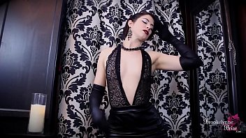 brookelynne briar sexy leather dress striptease