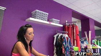 store clerk babe fucks for cash.