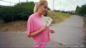 teen czech girl sucking cock for cash in.