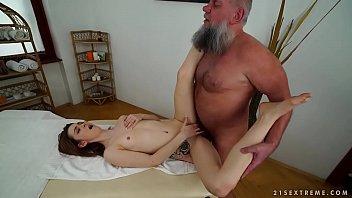 older man fucks her younger massage.