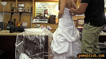 blond sells her wedding dress and.
