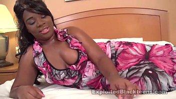thick black amateur teen w big tits gets.