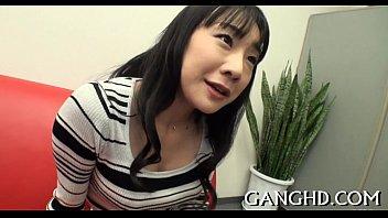japanese darling gives sexy blowjob