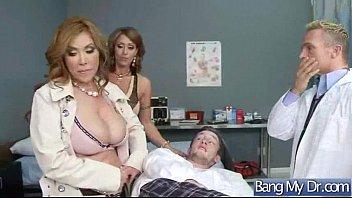 action scene between nasty doctor and horny patient.