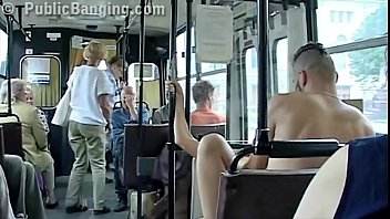 extreme public sex in a city bus with.