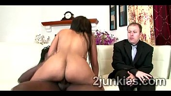 big booty brunette milf mounts black rod to.