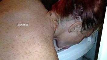 submissive nicci licks rv toilet and take a.