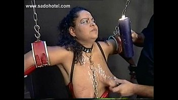 two slave tied in a dungeon got their.
