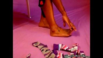 tattooed ebony dread chik sock, nipples, ebony, black, lingerie