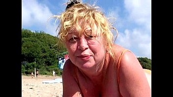 mature woman on the beach