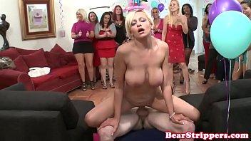 shameless bday girl rides stripper cock