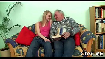 horny young sweetheart gives an old dude nice.