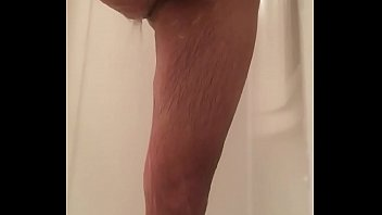husband big cock cumshot shower spy.