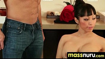 japanese masseuse gives a full service.